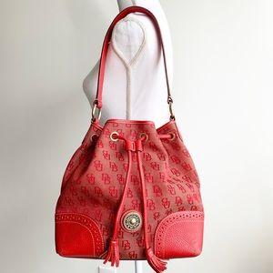 Dooney & Bourke Signature Leather Bucket Handbag